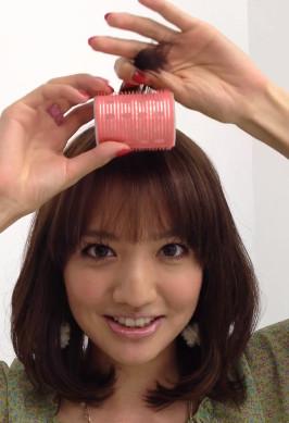 前髪セットの仕方1