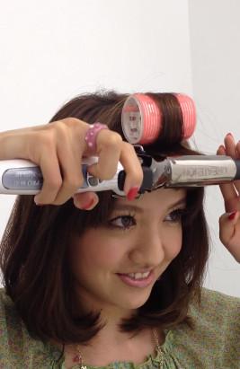 前髪セットの仕方4