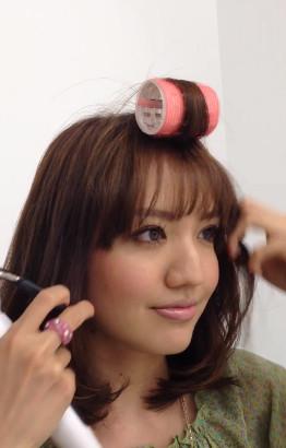 前髪セットの仕方5