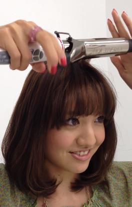 前髪セットの仕方6