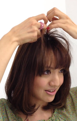 前髪セットの仕方9