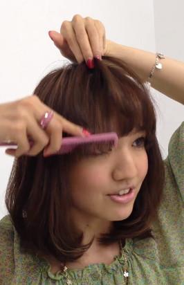 前髪セットの仕方11