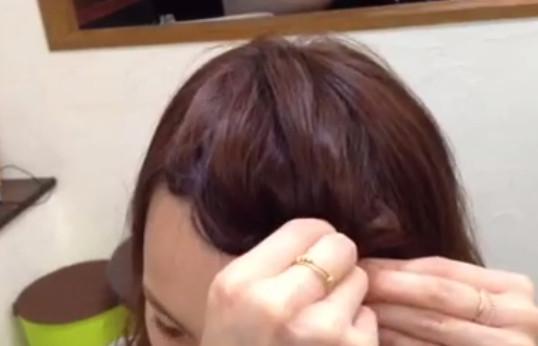 前髪アレンジ方法6