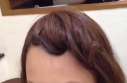 前髪アレンジ方法7