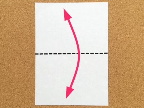 シンプルな手紙の折り方1