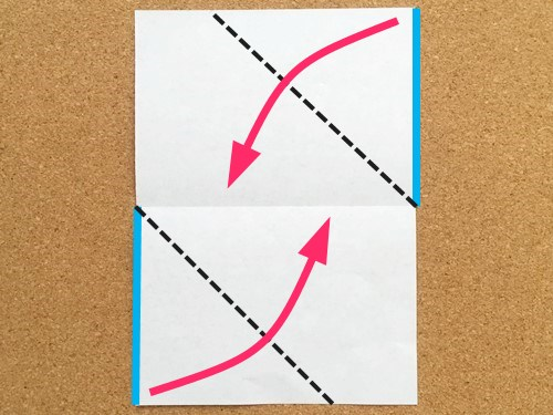 シンプルな手紙の折り方2