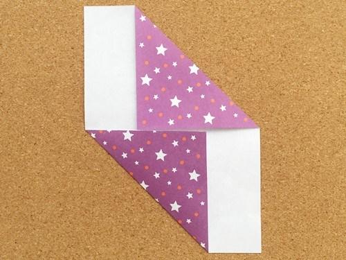 シンプルな手紙の折り方3