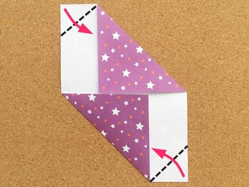 シンプルな手紙の折り方4