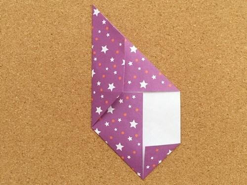 シンプルな手紙の折り方7