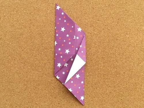 シンプルな手紙の折り方11