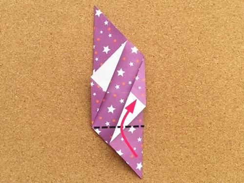 シンプルな手紙の折り方14