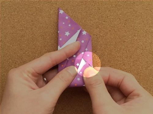 シンプルな手紙の折り方16