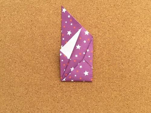 シンプルな手紙の折り方17