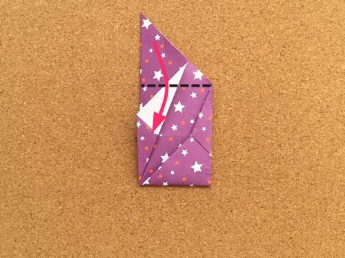 シンプルな手紙の折り方18