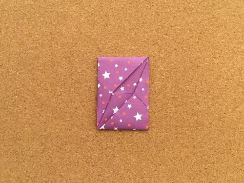 シンプルな手紙の折り方19