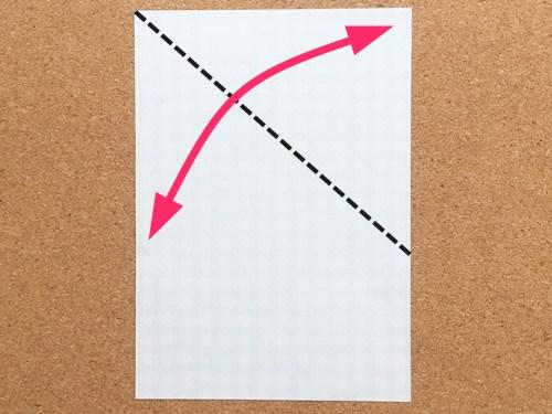 ハート2の折り方1