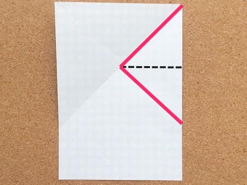 ハート2の折り方3