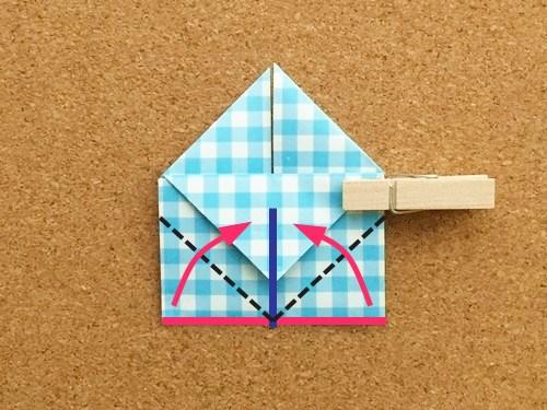 ハート2の折り方17