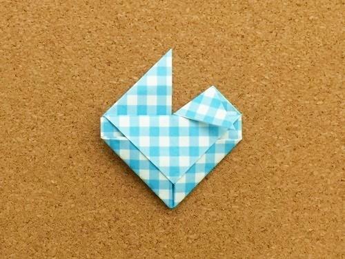 ハート2の折り方22