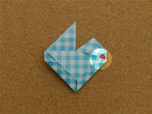 ハート2の折り方23