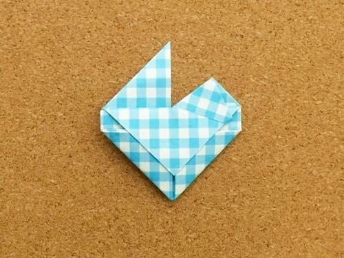 ハート2の折り方24