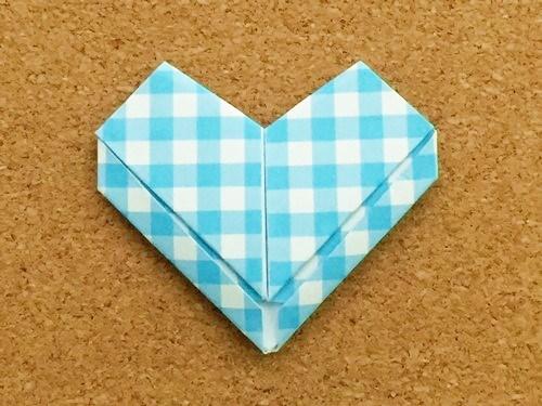 ハート2の折り方完成画像