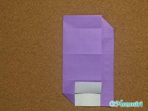 折り紙でアルファベットのAの折り方21