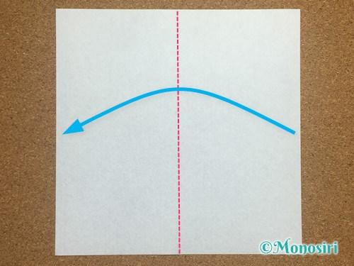 折り紙でアルファベットのEの折り方1