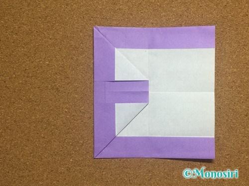 折り紙でアルファベットのEの折り方16