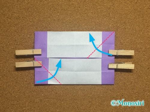 折り紙でアルファベットのNの折り方17