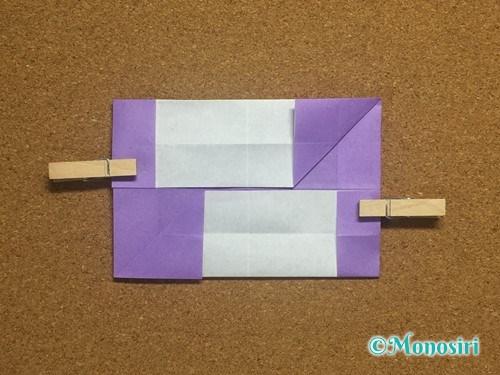 折り紙でアルファベットのNの折り方18