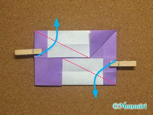 折り紙でアルファベットのNの折り方19