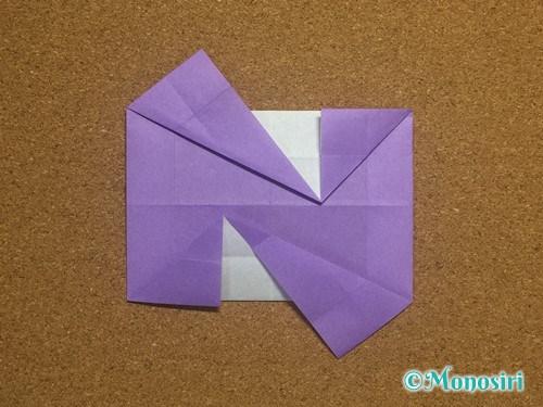 折り紙でアルファベットのNの折り方20