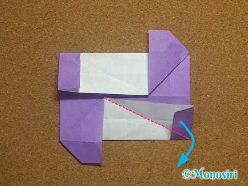 折り紙でアルファベットのNの折り方25