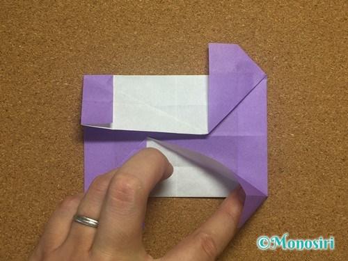折り紙でアルファベットのNの折り方26
