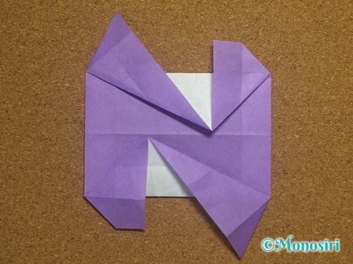 折り紙でアルファベットのNの折り方27