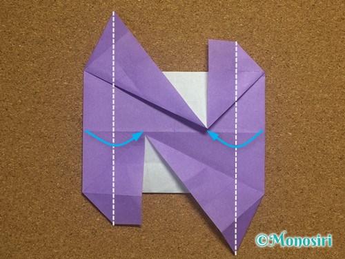 折り紙でアルファベットのNの折り方28
