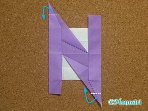 折り紙でアルファベットのNの折り方30