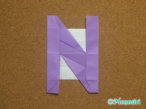 折り紙でアルファベットのNの折り方31