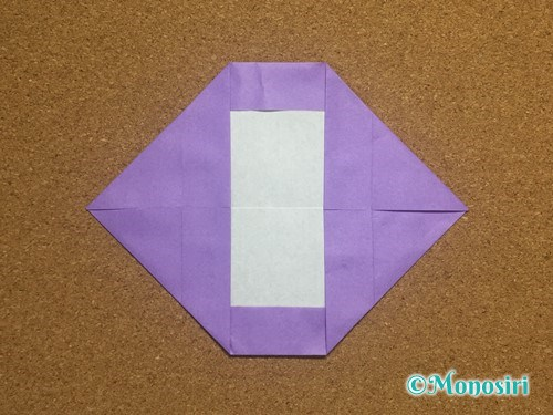 折り紙でアルファベットのOの折り方12