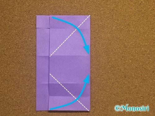 折り紙でアルファベットのPの折り方16