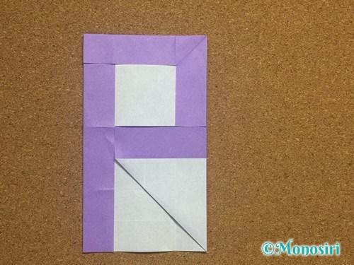 折り紙でアルファベットのPの折り方17