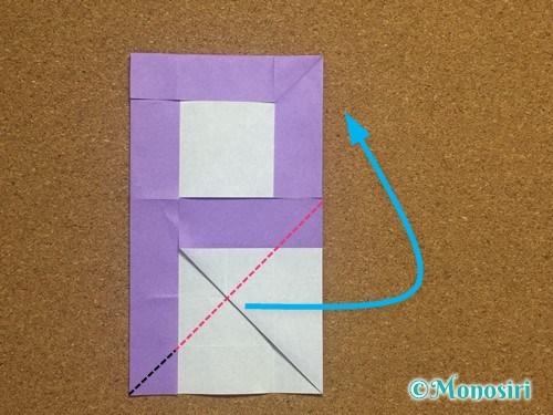 折り紙でアルファベットのPの折り方18