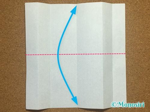 折り紙でアルファベットのPの折り方7