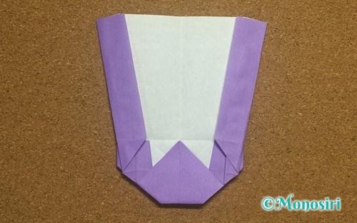 折り紙で作ったアルファベットのW