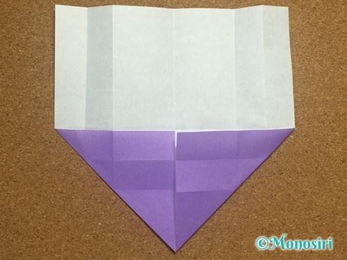 折り紙でアルファベットのWの折り方10