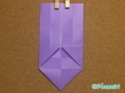 折り紙でアルファベットのWの折り方12