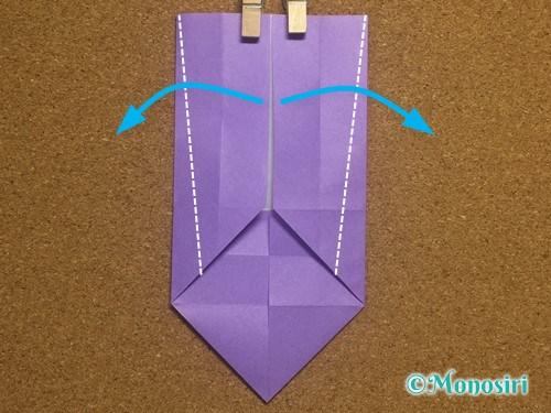 折り紙でアルファベットのWの折り方13