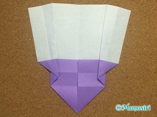 折り紙でアルファベットのWの折り方14