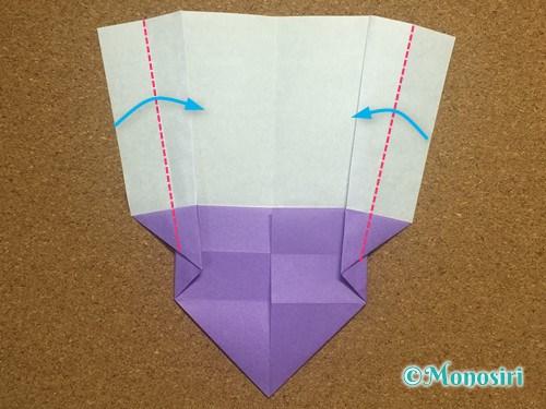 折り紙でアルファベットのWの折り方15